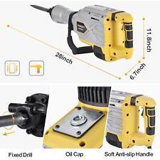 New Listing3800w Heavy Duty Electric Demolition Jack Hammer Concrete Breaker Punch Bit Set