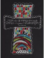 Bucilla I CAN DO ALL THINGS Counted Cross Stitch Kit CHRISTIAN Philippians 4 13 Craft Supplies
