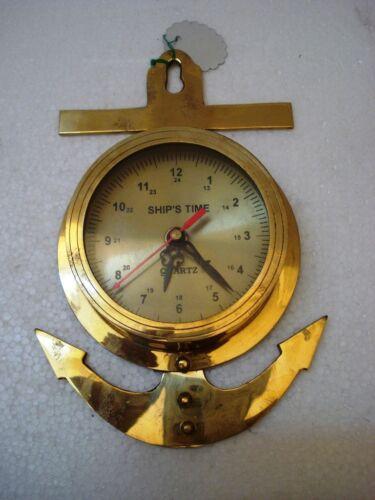 ANCHOR Style Marine Ship/'s BRASS WALL Clock 1246 RARE