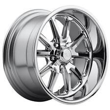 "CPP US Mags U110 Rambler Wheels Rims, 17x7 front + 18x8 rear, 5x4.75"", CHROME"
