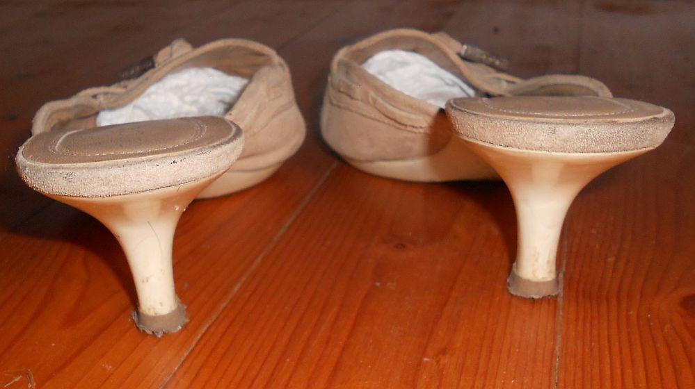 SERGIO ROSSI elegante Pumps Wildleder Wildleder Pumps Schuhe Hellbraun Gr.36,5 949e55