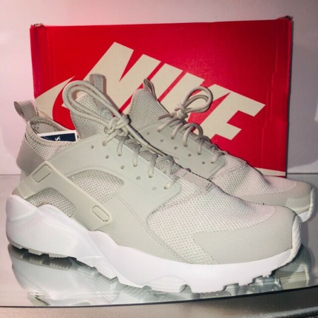 ce73cd331682 Nike Air Huarache Men Size9.5 Run Ultra Breathe Shoes Pale Grey White  833147 002