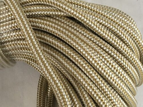 3//8x50  feet Double Braid Nylon GOLD//WHITE Anchor Dock Hoist Winch  Lift