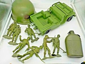 Lot-of-Large-6-Inch-Vintage-Louis-Marx-amp-LIDO-Figures-RARE-LIDO-JEEP-and-More
