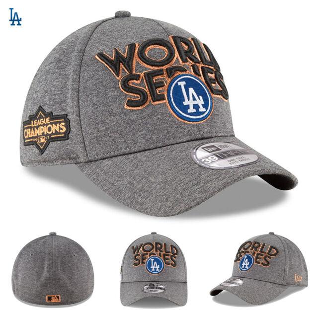 06700539ce8 Los Angeles Dodgers New Era Hat Cap 2017 NL Champions 39THIRTY Flex World  Series