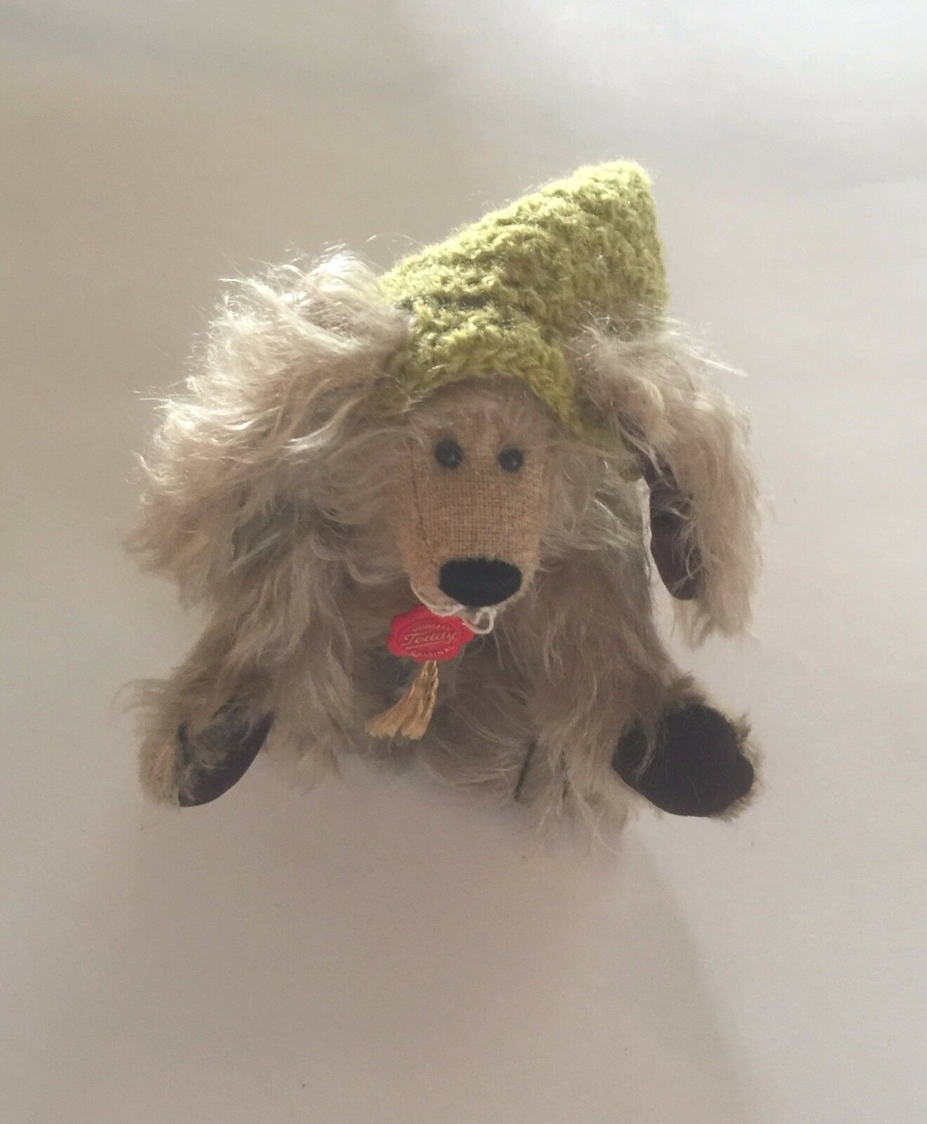 HERMANN TEDDY ORIGINAL SMALL MOHAIR BEAR WITH  TAG--6  JOINTED