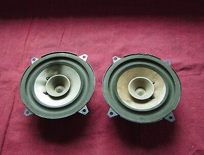 Volvo 1990-1992 240 OEM front door speaker PAIR PN# 1348949 /& 1348948 NO GRILLES