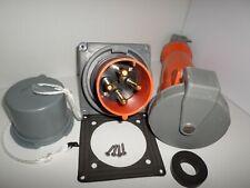 Hubbell 4100b12wamp4100c12wamppc100 100 Amp Inletampconnectorampcap 100a 125250v 3p4w