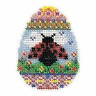 Ladybug Egg Bead Cross Stitch Kit Mill Hill 2016 Spring Bouquet MH181615
