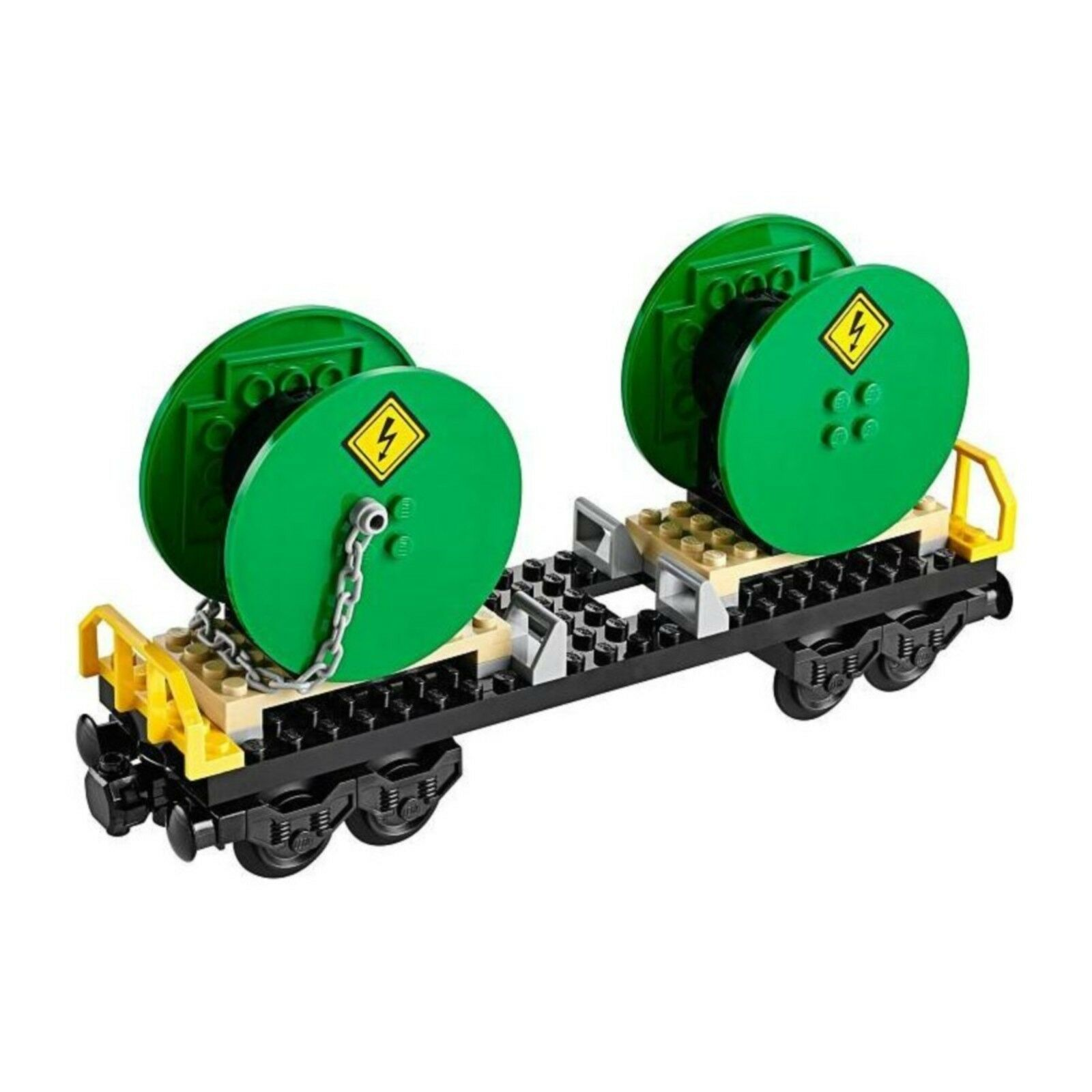LEGO NEW TRAIN RAIL FREIGHT WAGON WITH LARGE DRUMS & INSTRUCTIONS FROM 60052