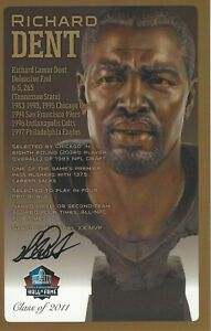 Richard Dent Chicago Bears  Football Hall Of Fame Autographed Bust Card