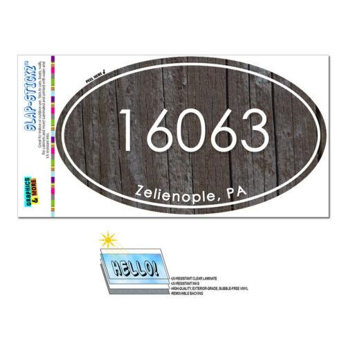 Pennsylvania PA Zip Code  15748-16417 Euro Oval Window Bumper Laminated Sticker