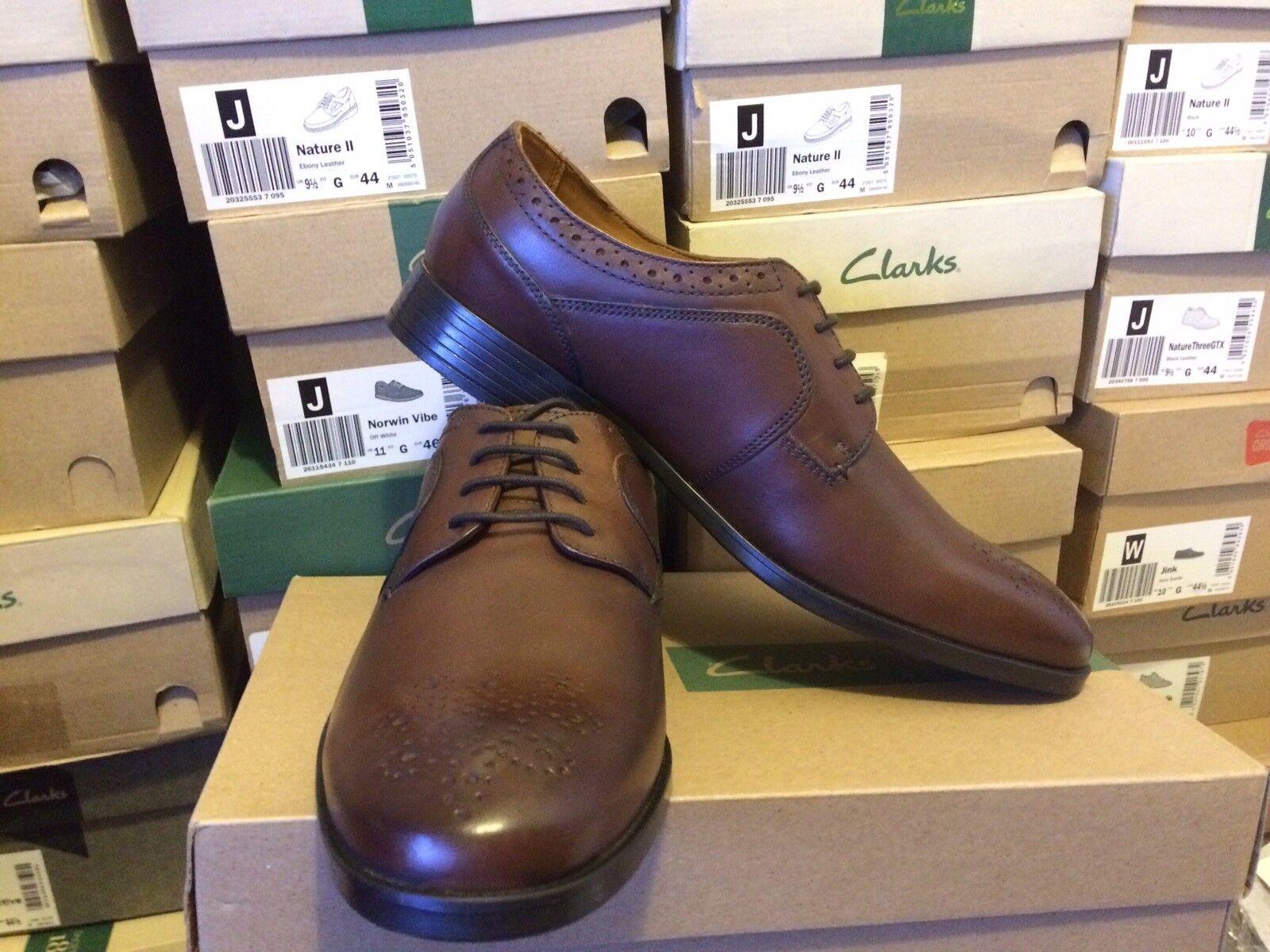 Clarks Kalden Edge Men's Brown Leather shoes Uk Size 8,5G.