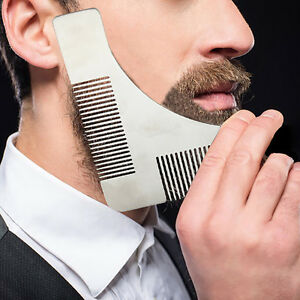 Multi-function-Beard-Shaping-Tool-Styling-Template-Comb-Facial-Trimmer-for-Men