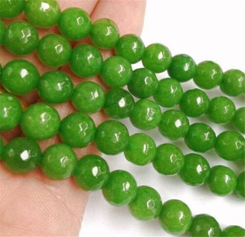 "Facettes 8 Mm Vert Peridot Perles Rondes Loose Beads Gemstone 15/"" Strand AAAA"