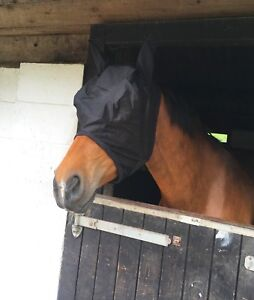 NEW-HORSE-COB-PONY-MESH-FLY-MASK-HOOD-WITH-EARS-VARIOUS-COLORS-BEST-SELLER-SALE