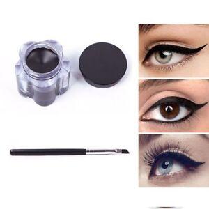 1-Set-Black-Waterproof-Eye-Liner-Eyeliner-Gel-Makeup-Cream-Cosmetic-With-Brush