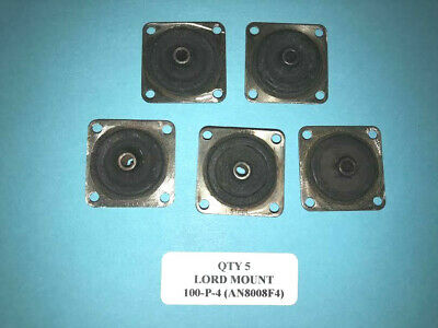 """5 Lord 100P4 """"Series 100"""" Absorber 1"""" Resilient Shock Mount AN8000F4 Aircraft"""