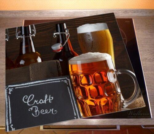 Pils Glas Biervarianten 60x52cm Herdabdeckplatte 1-teilig aus Glas