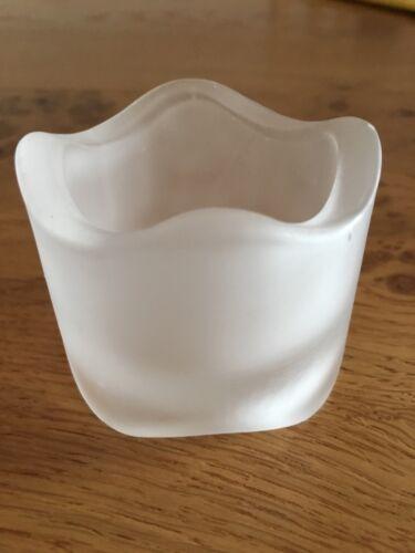4 pack Bolsius frosted glass tea light holders