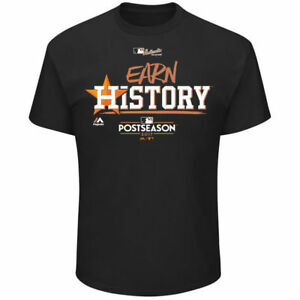free shipping db3ca 13a05 Details about Houston Astros Earn History Authentic World Series T-Shirt  3XL Black MLB