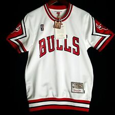 100% Authentic Bulls Mitchell & Ness Bulls Home Shooting Shirt 36 S - jordan
