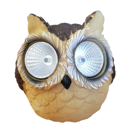 SOLAR GARDEN OWL LIGHT GREAT DESIGN patio decking patch party bbq pool side