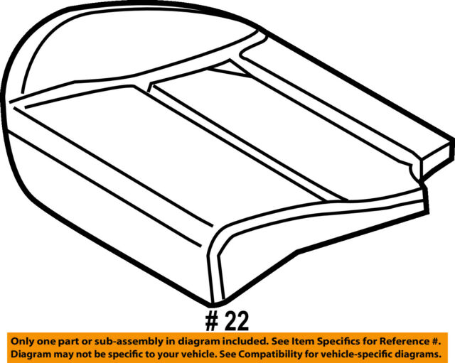 Ford Oem Seat Cushion Pad Cv6z5863840a Image 22 For Sale Online