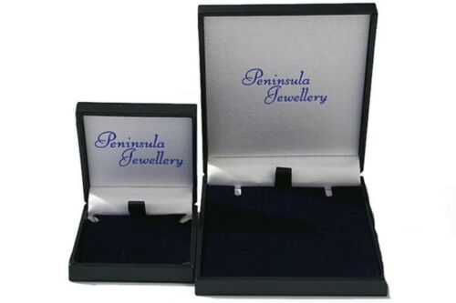 9ct Gold Blue Topaz Stud Round Earrings Gift Boxed Made in UK