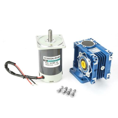 1pc DC24V 90W 5D90GN-RV40 Worm Gear Motor Speed Adjustable With Self-Locking