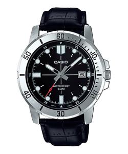 Reloj-Analogico-CASIO-MTP-VD01L-1E-Correa-De-Cuero-Dia-Del-Mes-50-BAR