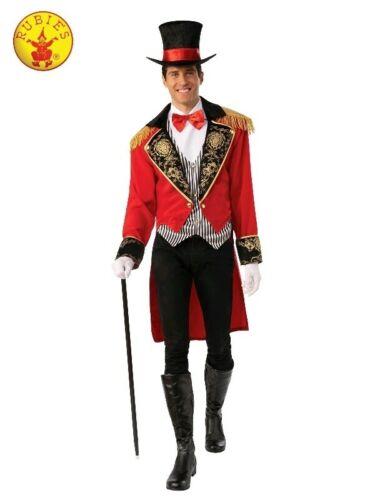 Deluxe Mens Ringmaster Costume Magician Circus Lion Tamer Showman Book Week
