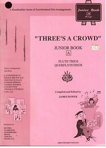 THREE-039-S-A-CROWD-FLUTE-TRIOS-Junior-Book-A-Easy-NEW-FLUTE-MUSIC-BOOK