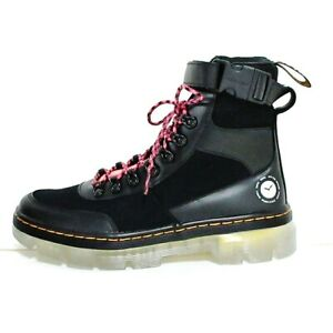 Auth Dr.Martens Com's Tech Atmosbu Lax Smooth 27048001 Black Leather Boots #US 6