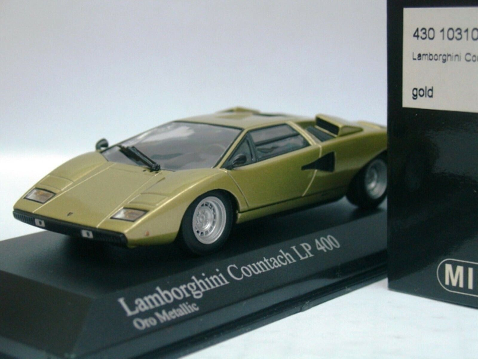Wow extrêmement rare Lamborghini Countach LP400 1974 or M 1 43 Minichamps-Espada