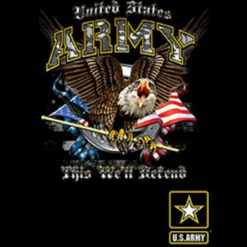 US Army We Will Defend Long Sleeve T Shirts Pick Your Size