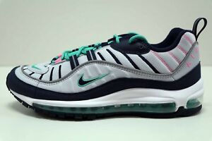 c8e03b1efb Nike Air Max 98 South Beach Pure Platinum Obsidian 640744 005 Size 9 ...