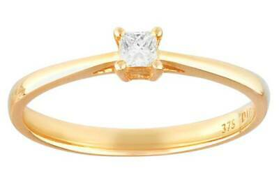 Revere 9ct Gold 0.10ct Diamond Solitaire Pendant 18cm rrp £249.99
