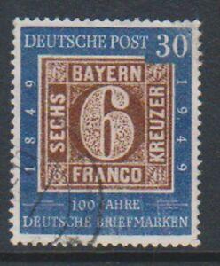Consciencieux Allemagne (west) - 1949,30pf Centenaire Tampon - F/u - Sg 1037 Divers ModèLes RéCents