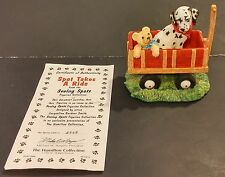 1996 Hamilton Collection Seeing Spots Spot Takes A Ride Dalmatian Figurine