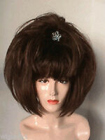 SIN CITY WIGS SHORT BROWN POINTY FLUFFY PAGE W/ BANGS VOLUMINOUS LAYERS SO CUTE!
