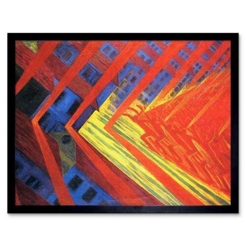 Russolo La Rivolta Revolt Painting 12X16 Inch Framed Art Print