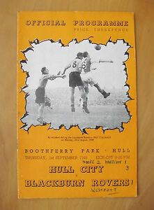 HULL CITY v BLACKBURN ROVERS 19491950 Good Condition Football Programme - London, United Kingdom - Returns accepted Most purchases from business sellers are protected by the Consumer Contract Regulations 2013 which give you the right to cancel the purchase within 14 days after the day you receive the item. Find out more about y - London, United Kingdom