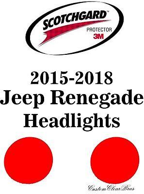 Rtint Headlight Tint Precut Smoked Film Covers for Jeep Renegade 2015-2016
