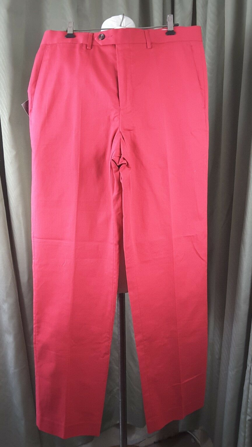 "BNWT Marks And Spencer Sartorial Dark pink Red Supercrease Trousers W34"" L33"""