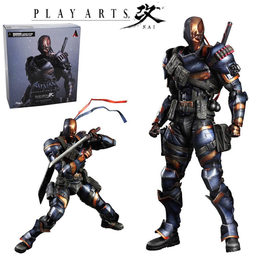 Kai deathstroke spielen kunst arkham herkunft dc comics actionfigur statue modell.