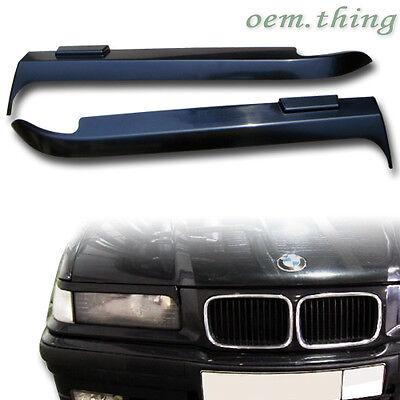 For BMW E36 3 SERIES 1992 1998 HEADLIGHT COVER EYEBROWS EYELIDS ABS 2D 4D CON