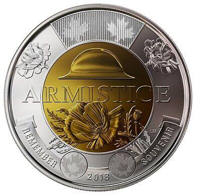 2019 D-Day Color /& No-Color 2018 Armistice Color Canada Coin Toonie $2 BU UNC