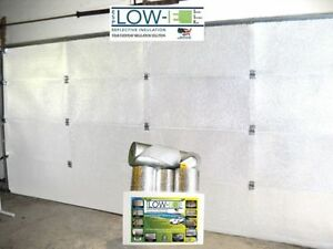 NASATEK White Reflective Foam Core 1 Car Garage Door Insulation Kit 9x8 6 Panel