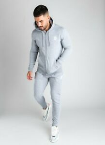 Gym-King-Mens-New-Long-Sleeve-Full-Zip-Hoody-Basis-Grey-Marl